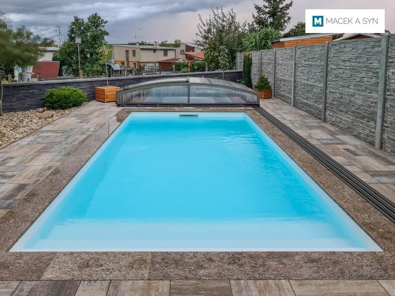 Schwimmbecken 6x4x1,35m, Pustiměř, die Tschechische Republik, Realisierung 2019