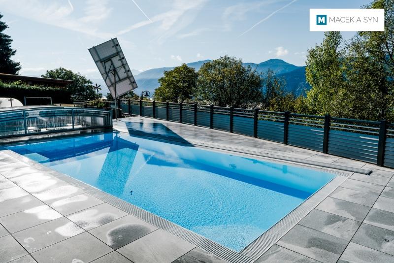 überdachung Viva 4,25 x 8,5 x 0,8m, Silberfarbe, St. Georgen, Kärnten, Österreich, Realisierung 2017